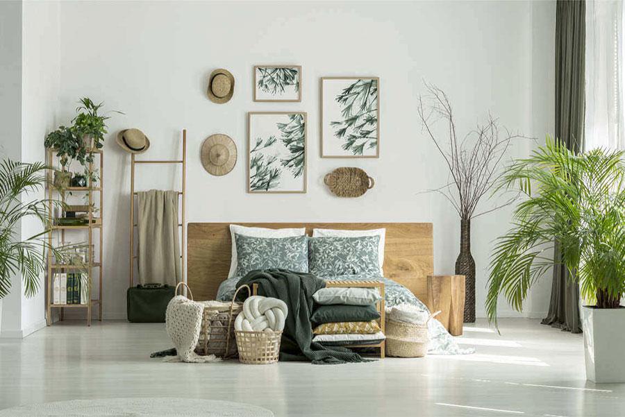 Idee per arredare la camera da letto con le piante n.02