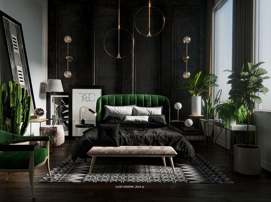 Idee per arredare la camera da letto con le piante n.05