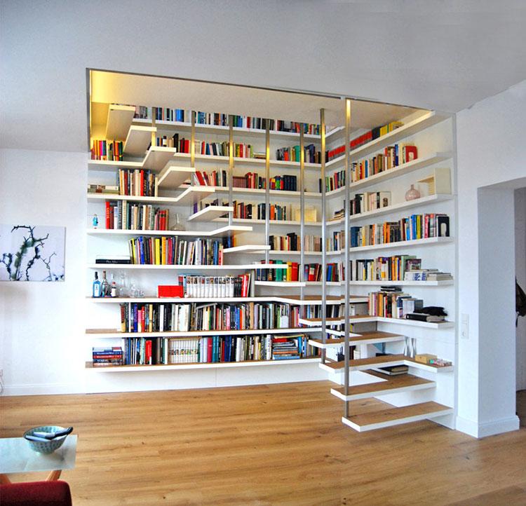 Idee per una scala con libreria integrata n.02