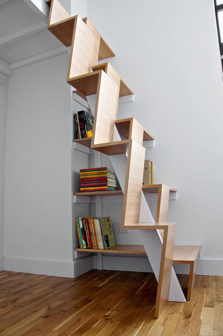 Idee per una scala con libreria integrata n.04