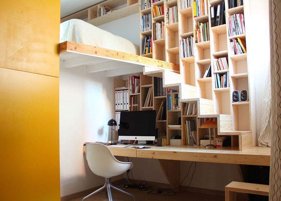 Idee per una scala con libreria integrata n.06