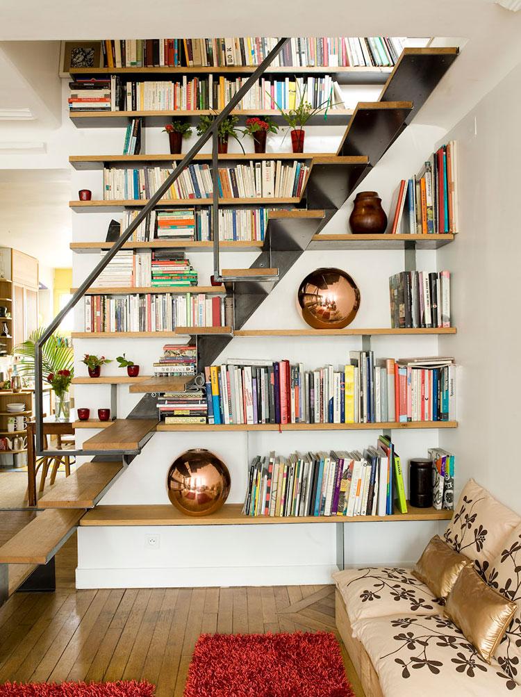 Idee per una scala con libreria integrata n.09