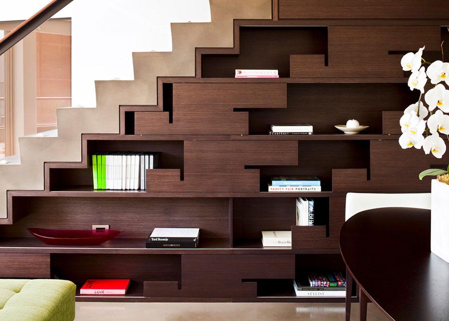 Idee per una scala con libreria integrata n.11