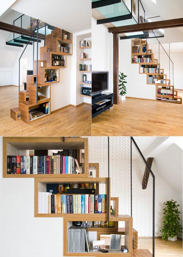 Idee per una scala con libreria integrata n.14