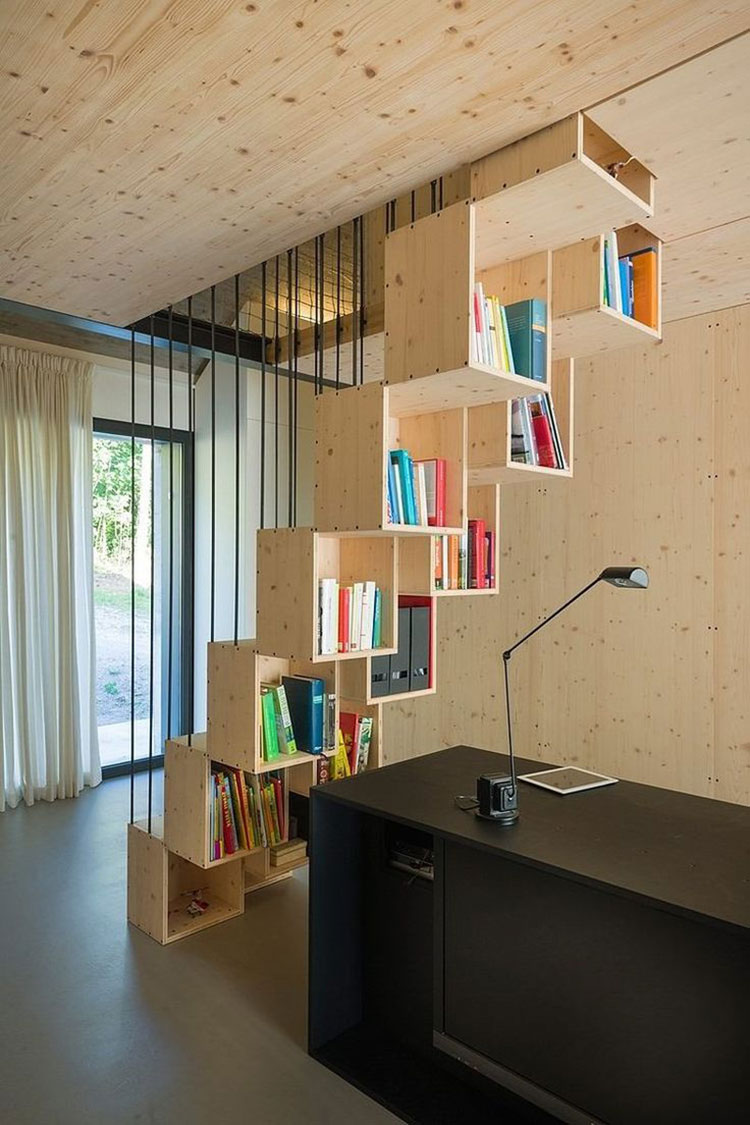 Idee per una scala con libreria integrata n.15