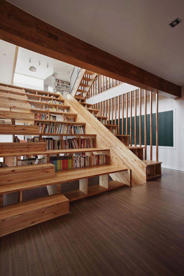 Idee per una scala con libreria integrata n.18