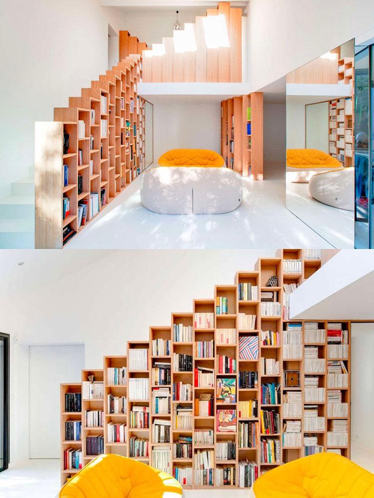 Idee per una scala con libreria integrata n.19