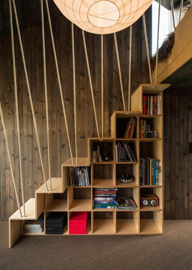Idee per una scala con libreria integrata n.22