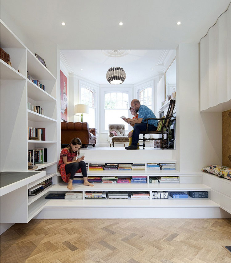 Idee per una scala con libreria integrata n.23
