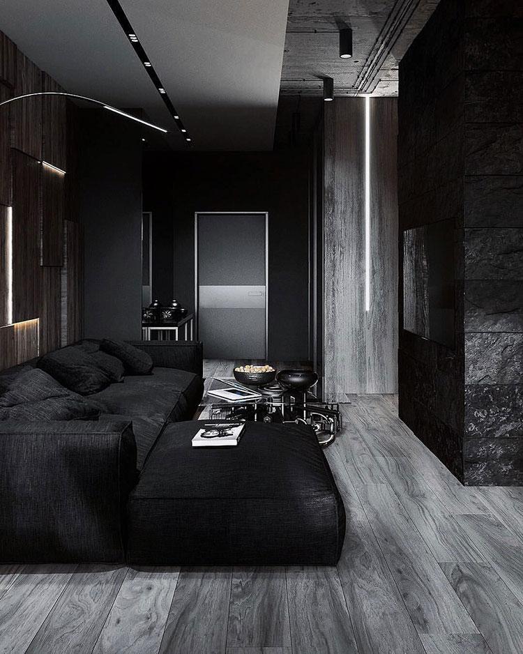Idee per soggiorno nero 02
