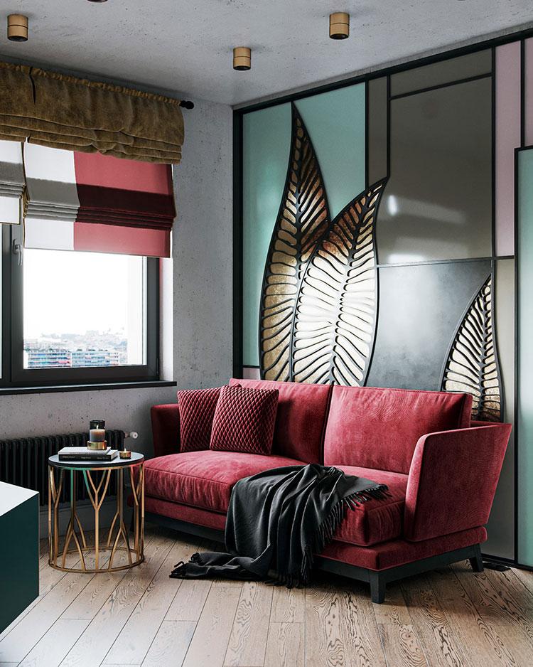 Quali cuscini abbinare ad un divano rosso n.01