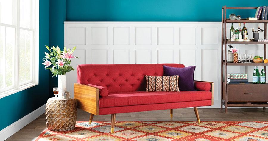 Quali tappeti abbinare ad un divano rosso n.02