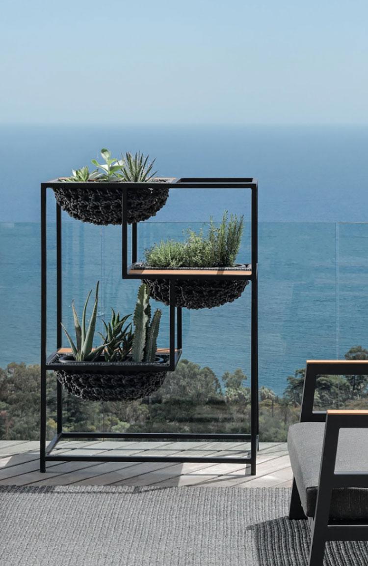 Modello di fioriera verticale di design n.01