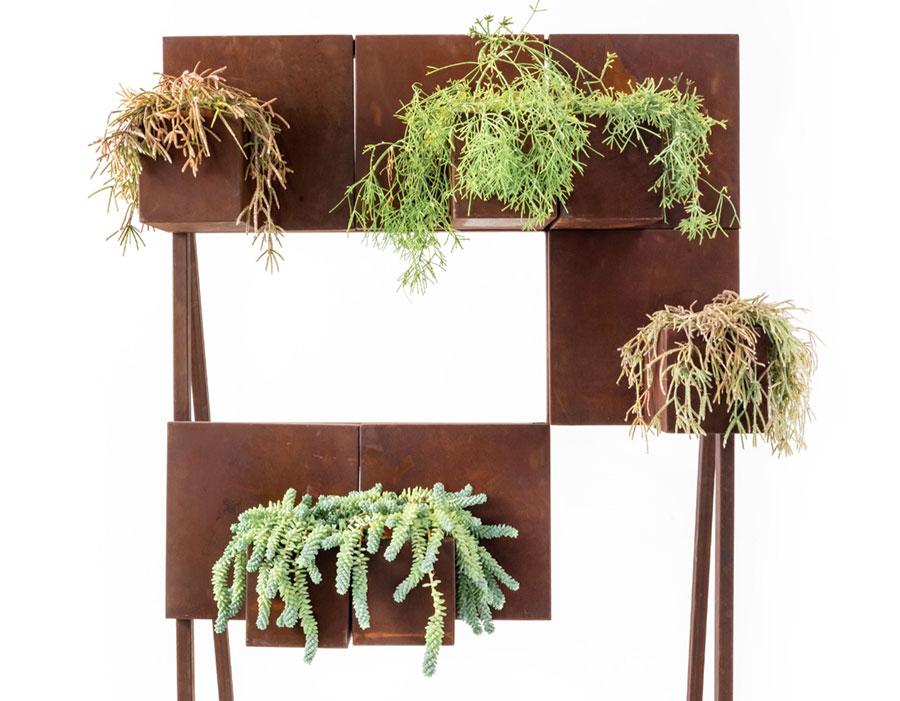 Modello di fioriera verticale di design n.04