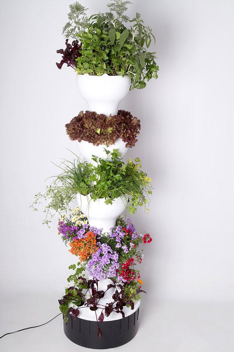 Modello di fioriera verticale di design n.08