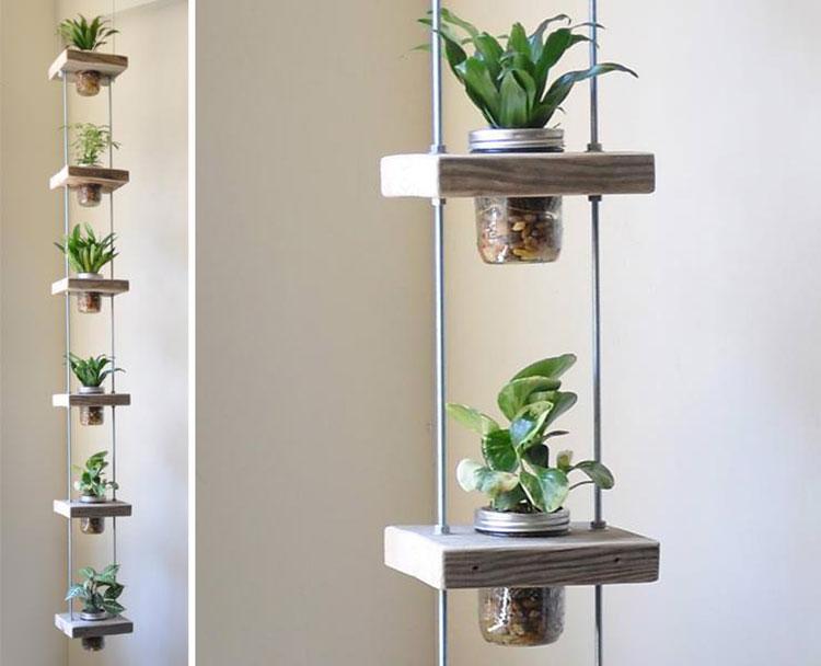 Modello di fioriera verticale sospesa n.01