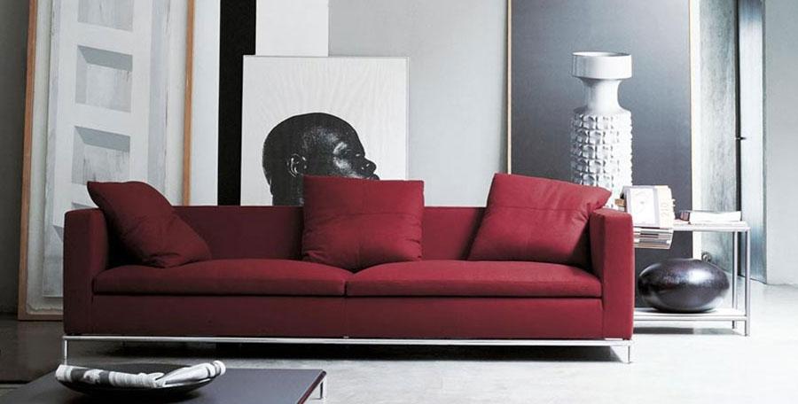 Abbinamenti divano rosso